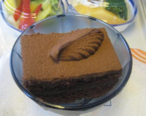 Chocolate torte on a Plane