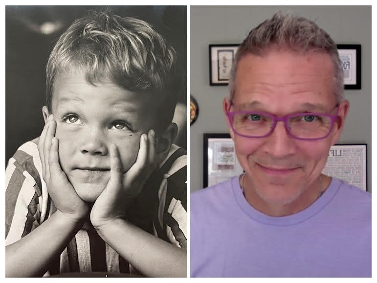 side by side image of Jim Smith at age seven and present day